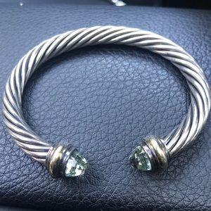 David Yurman Bracelet, light blue/green stone